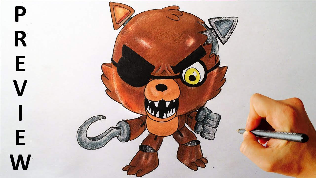 How To Draw Foxy From Five Nights At Freddy S Fnaf Collector Clip