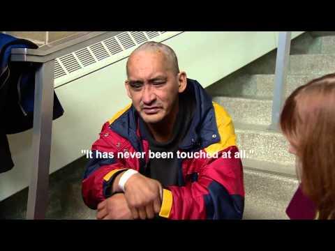 Homeless man Ryan Arcand talks about becoming an internet sensation
