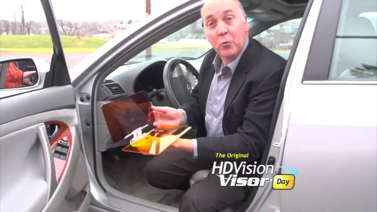 HD Vision Visor reviews - day   night HD car visor - YouTube 9f3e9898d49