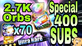 2.7K Orbs Summons & Accesories, 😲 OMG 😱 Special 400 Subscribers Bleach Brave Souls 70 Braves Tickets