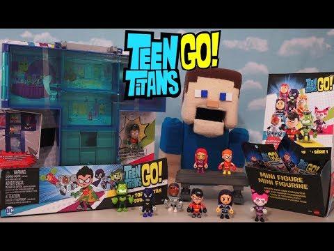 Teen Titans Go Mini Figure Teen Tower Mattel Blind Bag Action figures Mystery Box playSet Unboxing