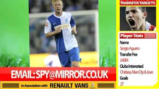 Football Spy - June 17, 2011: Modric! Samba! Fabregas! Aguero! Kaka! And more!