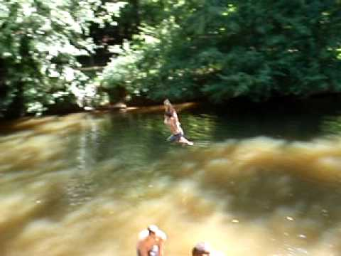 Me Eno River Rope Swing Youtube
