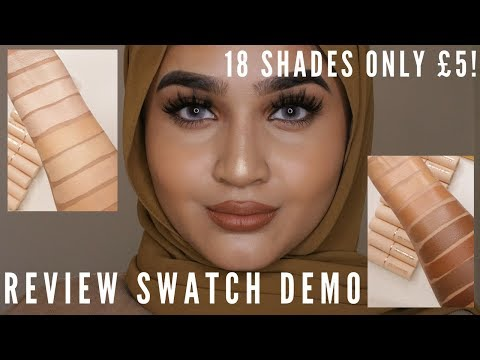 Makeup Revolution Fast Base Foundation Sticks Review Swatch Demo On Brown Tan Indian Skin