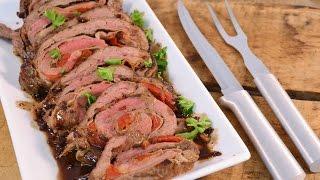Prosciutto and Provolone Stuffed Flank Steak Recipe - Cheese Stuffed Steak  RadaCutlery.com