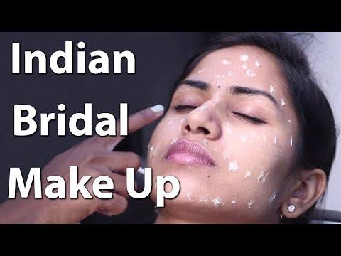 Step-by-Step South Indian Bridal Makeup 🌺 Easy Beautiful Bridal Hair 🌺 Bridal make up tutorial