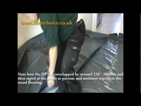 Preparing The Subfloor For Floating Wooden Flooring Youtube
