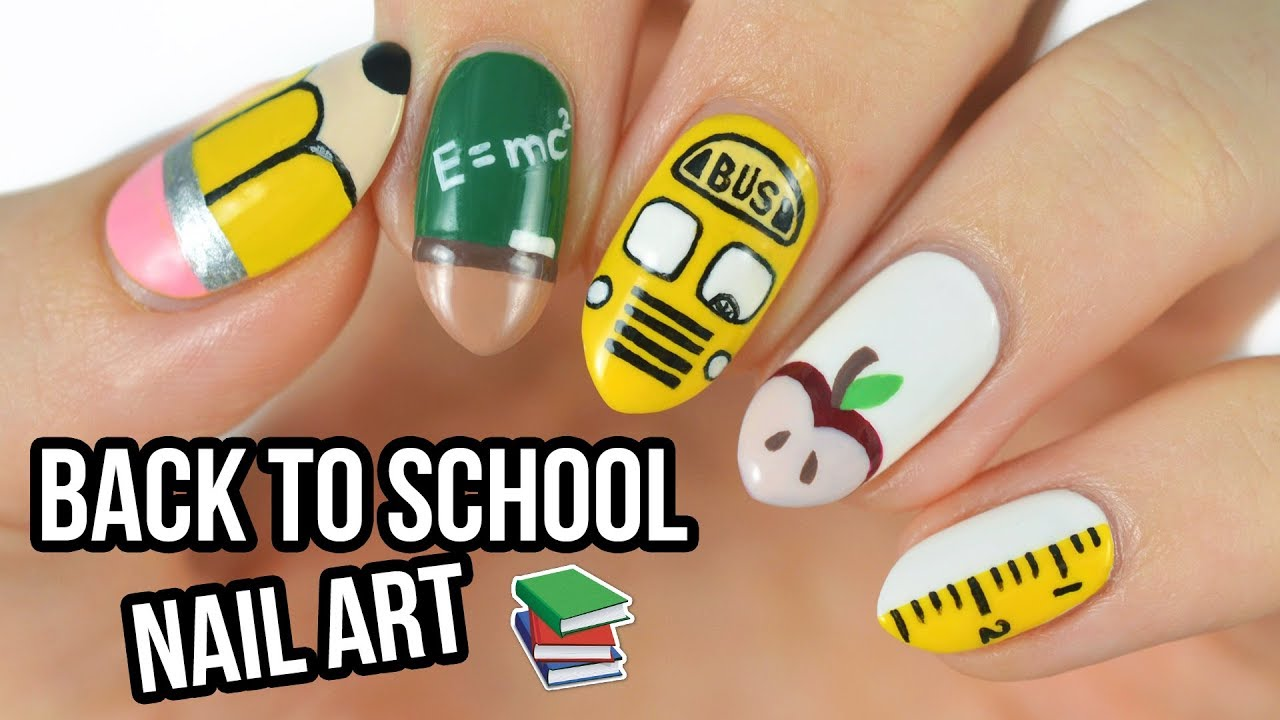 picture 12 Cute Back To School Nail Art Designs