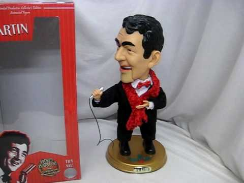 Gemmy Animated Toy Singing Dean Martin Figure Sings Christmas songs