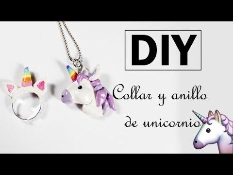 707e112a21c4 DIY ♥ Collar y anillo de unicornio + GANADOR SORTEO ♥ JOYERIA MÁGICA -  YouTube