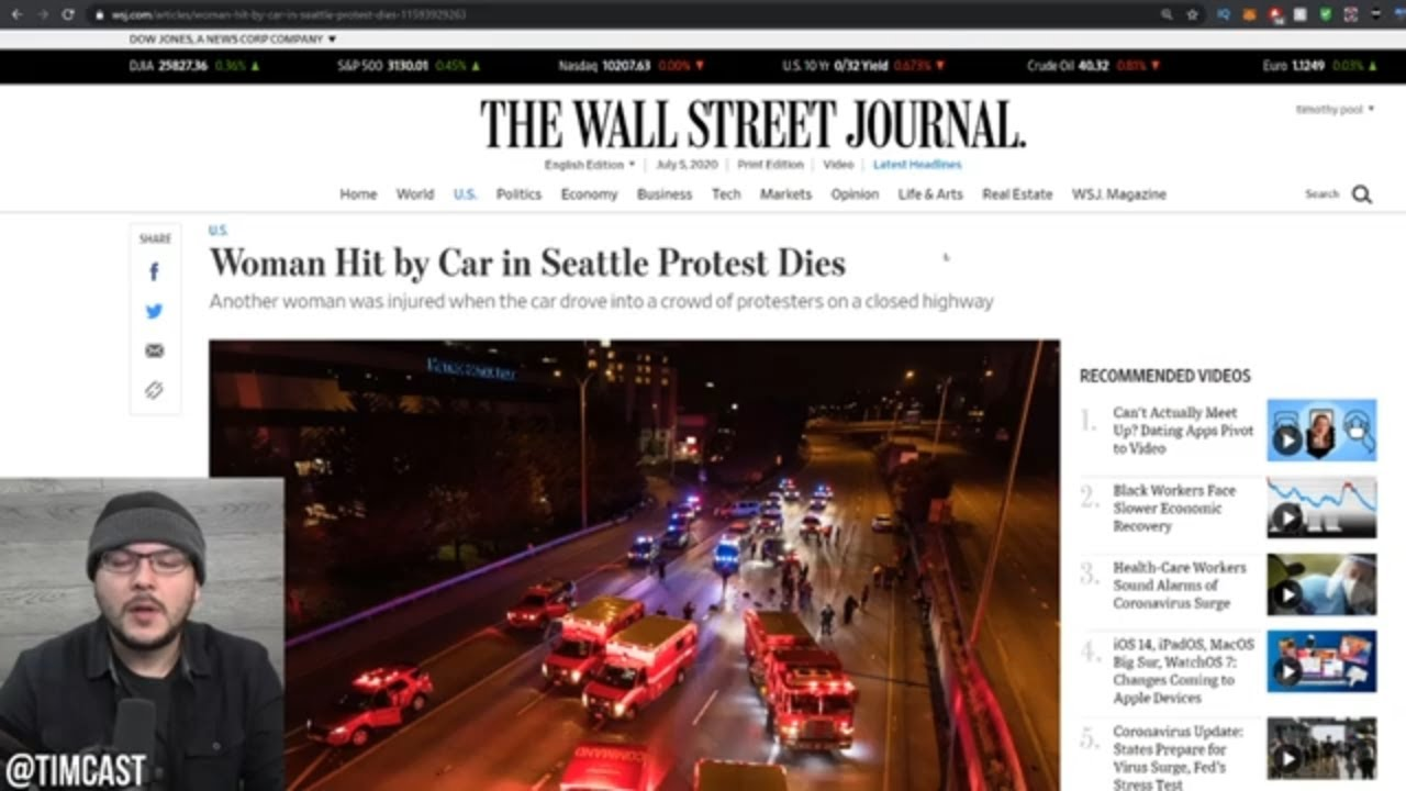 Leftist Hit By Car DIES, Black Man Charged For It, BLM Leaders QUITTING Due To Far Left And Antifa