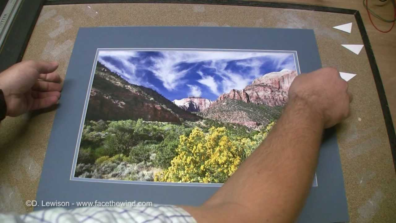 How to Make Your Own Double Mat for Framing Photos - YouTube