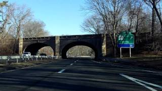 Wilbur Cross Parkway (Exits 54 to 59) northbound