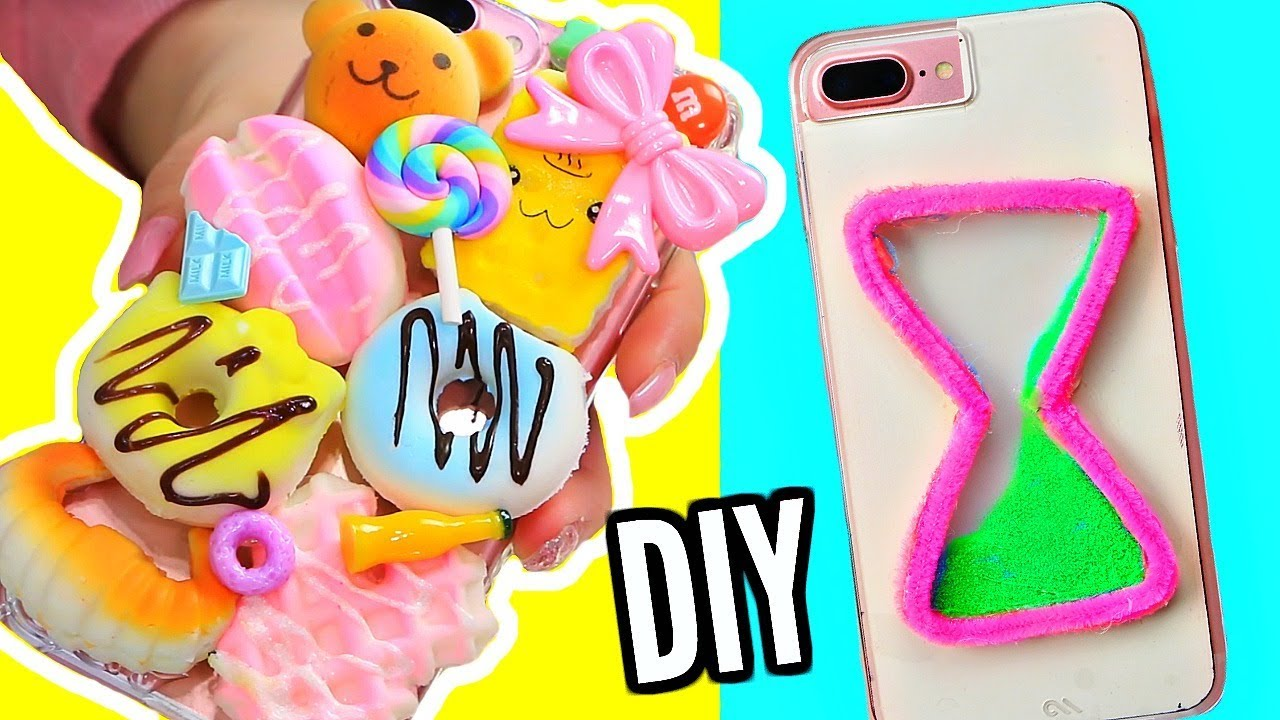 DIY Easy Phone Cases! Squishy Phone Case, Watercolor Phone Case + More!