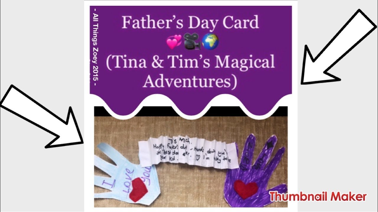 Episode 2 (Tina and Tim: Let's make a Father's Day Card) #Fathersdaydiy #diycard