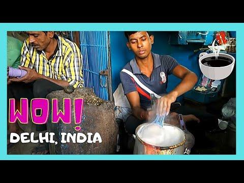 OLD DELHI, the SPICE MARKET and the world's smallest TEA SHOP (INDIA)