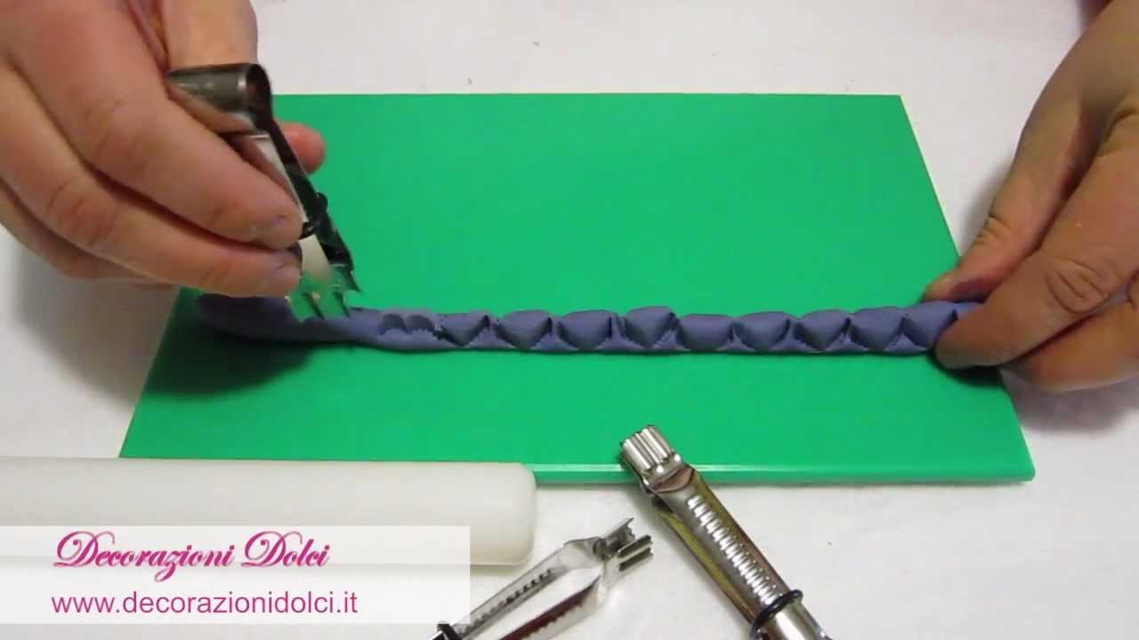 decorazioni dolci - tutorial: come usare i crimper per creare ... - Dolci E Decorazioni Graziano