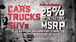 25% OFF MSRP only at your Beck & Masten Buick GMC North!