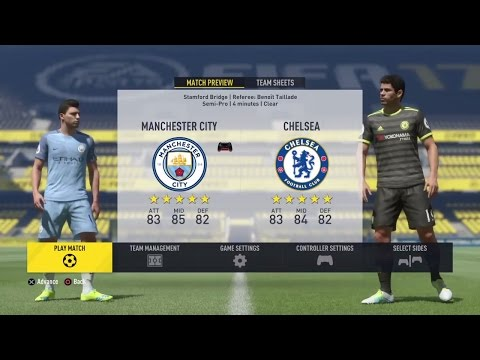 Fifa 17 Manchester City VS Chelsea