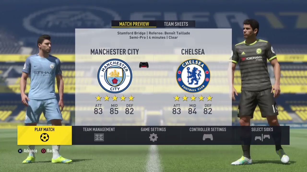 Manchester City Fc And Chelsea: Fifa 17 Manchester City VS Chelsea