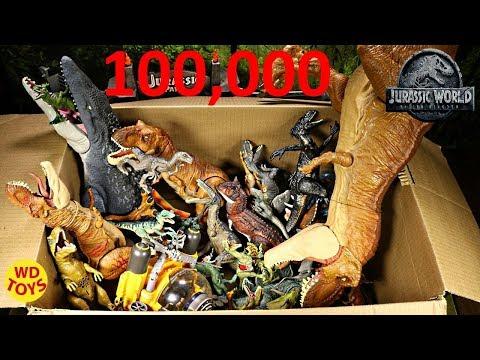 New Huge Box Jurassic World Fallen Kingdom Dinosaur Toys 100,000 Subscribers Mattel Surprise WD Toys