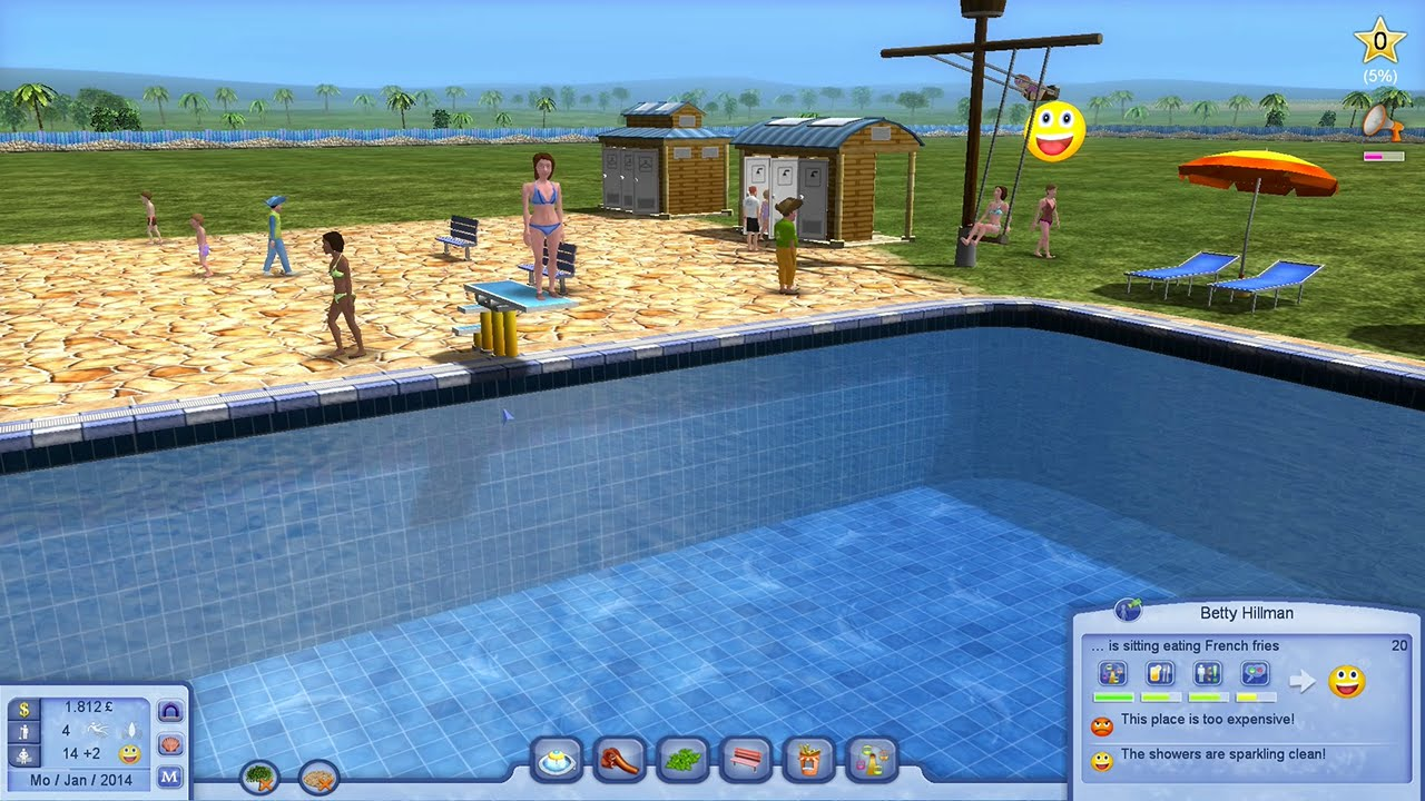Waterpark Tycoon PC Gameplay HD