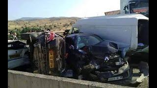 حادث مرور الجباحية بالبويرة 20 سيارة  2015/07/22