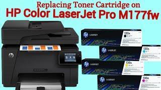 Replacing Toner Cartridges on HP Color Laserjet Pro M177fw