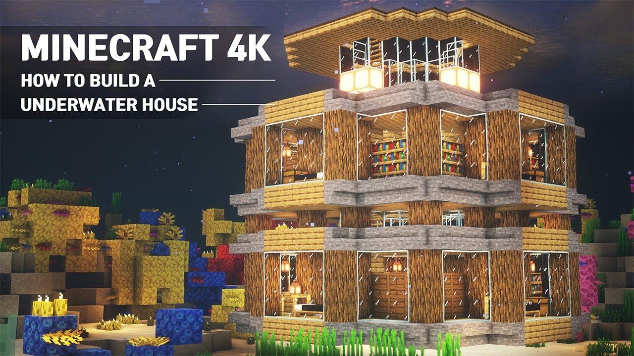 Minecraft Easy : Underwater House Tutorial |How to Build in Minecraft #12