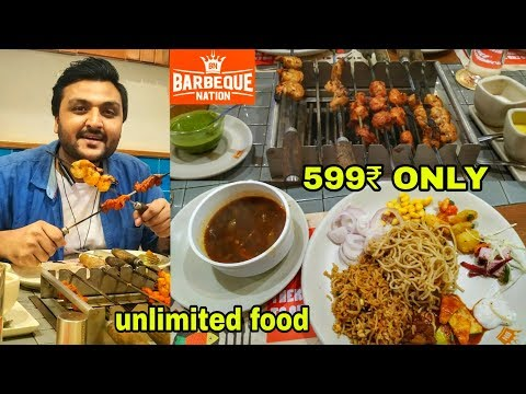 Barbeque Nation Unlimited Buffet In Just 599₹ || Unlimited Food & Kebab ||