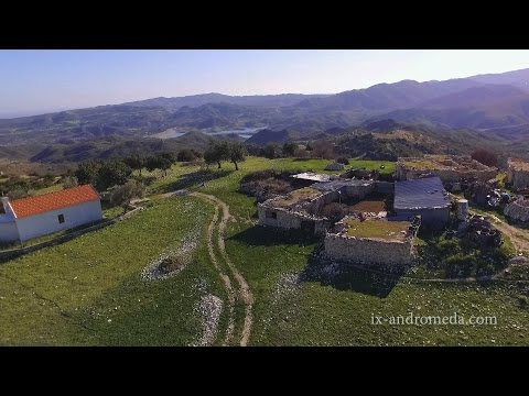 Parsata, abandoned and deserted settlement, Larnaca (Cyprus aerial video)