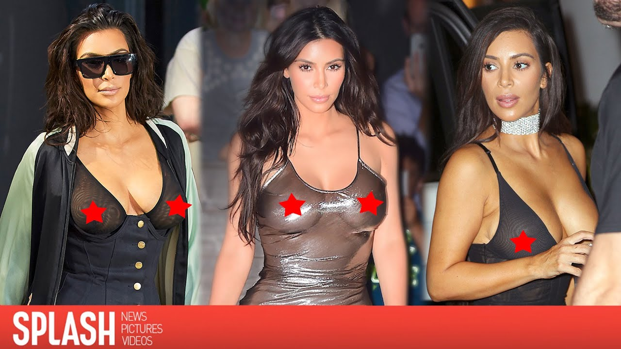 kim kardashian's sheer see through summer | splash news tv - youtube