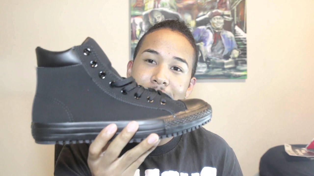 black converse boots