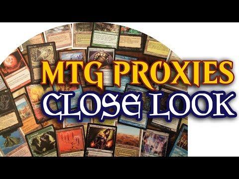 Magic The Gathering Fake Cards/Proxies - Close Look