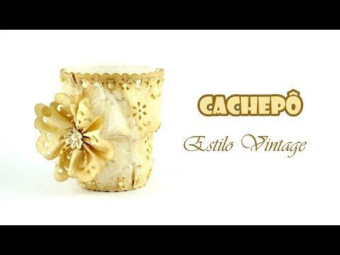 Cachepô Vintage com Pote de Cup Noodles