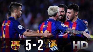 FC Barcelona vs Real Sociedad 5-2 - All Goals And Highlights (Copa Del Rey) 26.01.2017 HD
