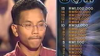 Who Wants to be a Millionaire - Malaysia  Jeffrey Chew Yr 2001