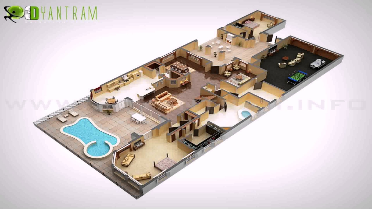 duplex house plans in 3d - 3d Plan House