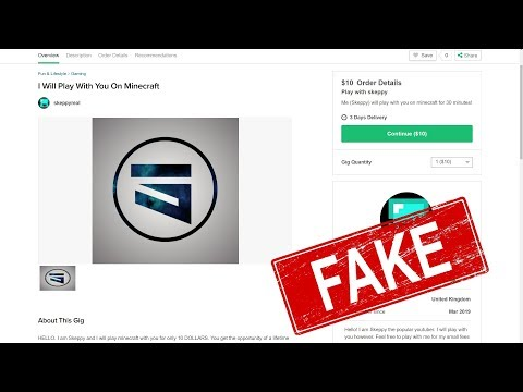 KID ON FIVERR PRETENDING TO BE ME... *I BOUGHT IT*