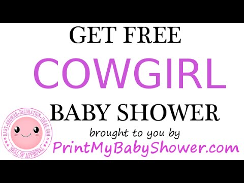 Cowgirl Baby Shower Invitations Decorations Games