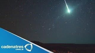 Canadienses captan caída de meteorito / Canadians capture meteorite fall