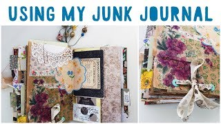 JUNK JOURNAL WITH ME | Ep 08 | Using A Junk Journal | Journalling Process | Vintage Journal