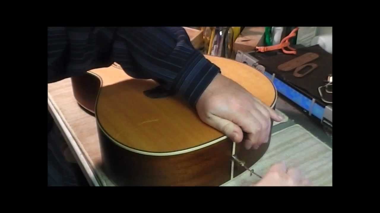 Installing Piezo Pickup in Acoustic Guitar - YouTube