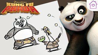 How to Draw KUNG FU PANDA! | #CAMPDREAMWORKS DRAW-ALONG