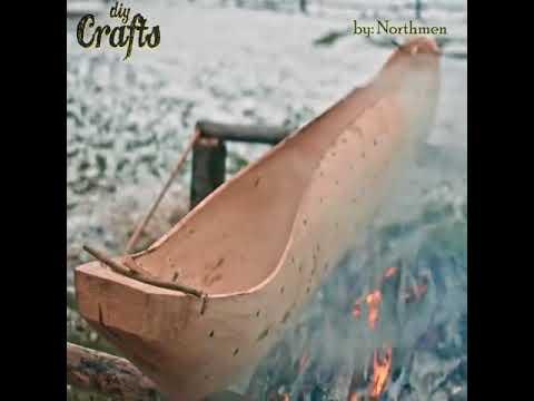 DIY & Crafts   How It's Made Dugout Canoe Credit  Northmen