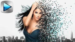 Появление ТЕКСТА из МОЛЕКУЛ. Картинка из частиц в 3D пространстве. Уроки видеомонтажа Sony Vegas Pro