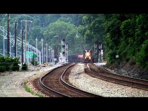 CSX Coal and Maintenace Train Charleston, WV [HD]