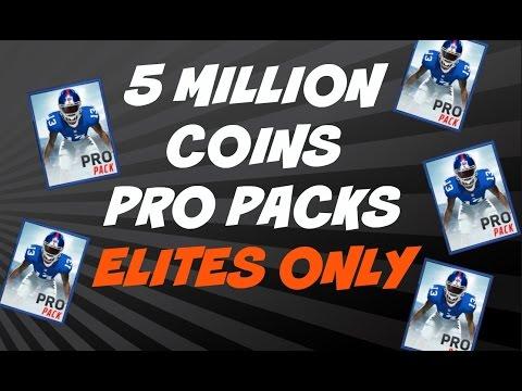 MILLION COINS OF PRO PACKS! ELITE PULLS ONLY - Madden Mobile 16