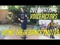 Overwatch Voice Actor Doing Their Dance Emotes Including Genji Sombra Lucio Tracer More mp3