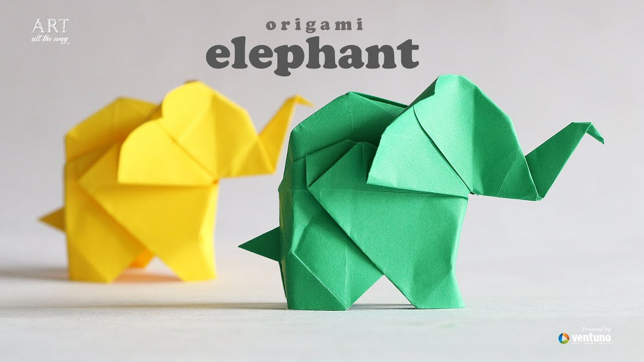 how to make origami elephant fumiaki kawahata youtube